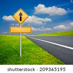 straight traffic sign with... | Shutterstock . vector #209365195