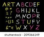 art font. caps lock | Shutterstock .eps vector #209366149