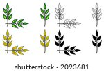 set of design elements. corner... | Shutterstock . vector #2093681