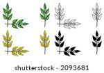 set of design elements. corner... | Shutterstock . vector #2093681