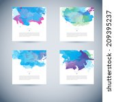 set of bright colorful vector... | Shutterstock .eps vector #209395237