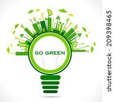 creative design for go green or ... | Shutterstock .eps vector #209398465