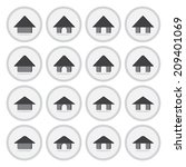 vector of flat icon  home set...