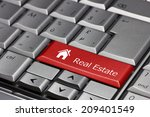 computer key   real estate with ... | Shutterstock . vector #209401549