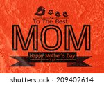 happy mothers day greeting card ... | Shutterstock . vector #209402614