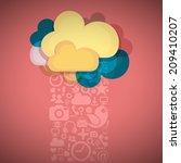 social media cloud connection | Shutterstock .eps vector #209410207