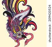 garuda. beautiful bird.... | Shutterstock .eps vector #209420524