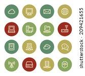 cloud computing   internet web...   Shutterstock .eps vector #209421655