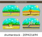 vector underground scheme | Shutterstock .eps vector #209421694