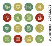 finance web icons  vintage color | Shutterstock .eps vector #209422171
