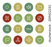 media player web icons  vintage ... | Shutterstock .eps vector #209422231