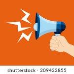 megaphone design over orange ... | Shutterstock .eps vector #209422855