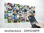 big lcd panel with television... | Shutterstock . vector #209423899