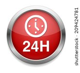 24 hours a day icon isolated on ... | Shutterstock . vector #209424781