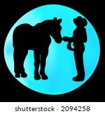 western type silhouette with... | Shutterstock .eps vector #2094258