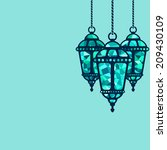 ramadan lantern background  ... | Shutterstock .eps vector #209430109