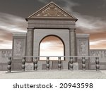 3d illustration of a temple | Shutterstock . vector #20943598