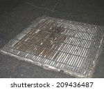 drain outlet with cigarettes | Shutterstock . vector #209436487