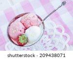 homemade strawberry and vanilla ... | Shutterstock . vector #209438071