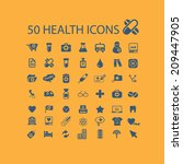 50 health icons  signs  objects ... | Shutterstock .eps vector #209447905