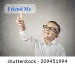 closeup portrait happy  smiling ... | Shutterstock . vector #209451994