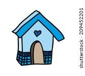 bird design over white... | Shutterstock .eps vector #209452201