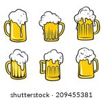 glass pint tankards set of... | Shutterstock .eps vector #209455381