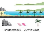 paradise beach around the world | Shutterstock .eps vector #209459335