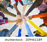 group of diverse multiethnic... | Shutterstock . vector #209461189