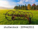 Antique Farm Implement In A...