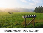Row Of Mailboxes In A Rural...