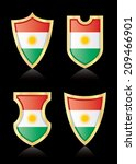 vector shields with flag of... | Shutterstock .eps vector #209466901
