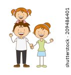 family design over white... | Shutterstock .eps vector #209486401
