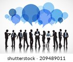 silhouettes of business people... | Shutterstock .eps vector #209489011