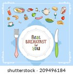 best breakfast for you elements ... | Shutterstock . vector #209496184