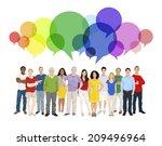 illustration of multiethnic... | Shutterstock .eps vector #209496964