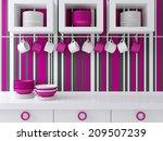 modern kitchen design with... | Shutterstock . vector #209507239