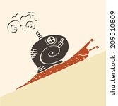 steampunk snail. snail  with... | Shutterstock .eps vector #209510809
