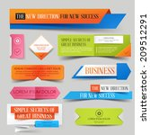 set of colorful paper business... | Shutterstock .eps vector #209512291