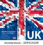 Abstract Background Uk Flag ...