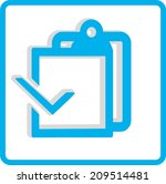 blank paper. flat modern web...   Shutterstock .eps vector #209514481