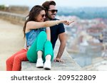portrait of young tourist... | Shutterstock . vector #209522809