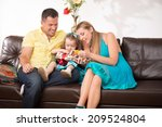 happy family portrait  little... | Shutterstock . vector #209524804