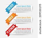comparison modern web banner | Shutterstock .eps vector #209530195