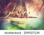 serenity beach | Shutterstock . vector #209537134