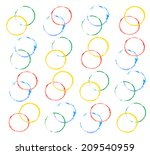 watercolor round | Shutterstock . vector #209540959