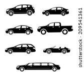 ar black silhouettes... | Shutterstock . vector #209541361