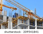 crane and building construction ... | Shutterstock . vector #209541841