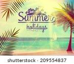 vintage poster of tropical... | Shutterstock .eps vector #209554837