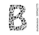 abstract vector alphabet   b... | Shutterstock .eps vector #209562775